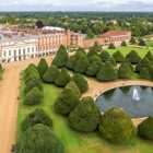 Aerial view of Great Fountain Garden